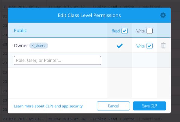 Pointer Permissions Editor